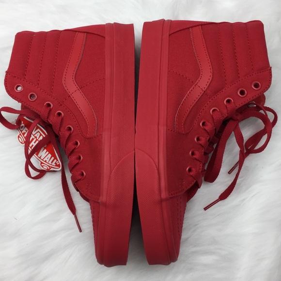 Furgonetas Sk8 Mono Hi Rojo Verdadero T5DV3Lih